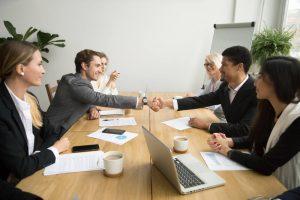 Affärsuppgörelse vid företagsförsäljning